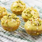 Pistachio Rosewater Madeline Muffins