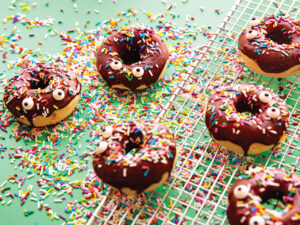 Kids Baked Chocolate Donuts with Sprinkles and Googly Eyes Baking kit